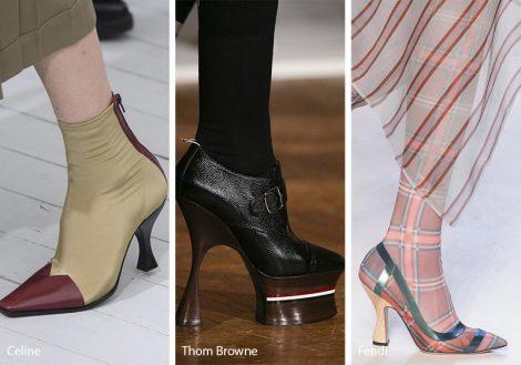 Tendenze Moda scarpe e sandali con tacco rocchetto primavera estate 2018