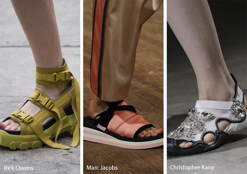 Tendenze Moda scarpe e sandali primavera estate 2018 I sandali sportivi