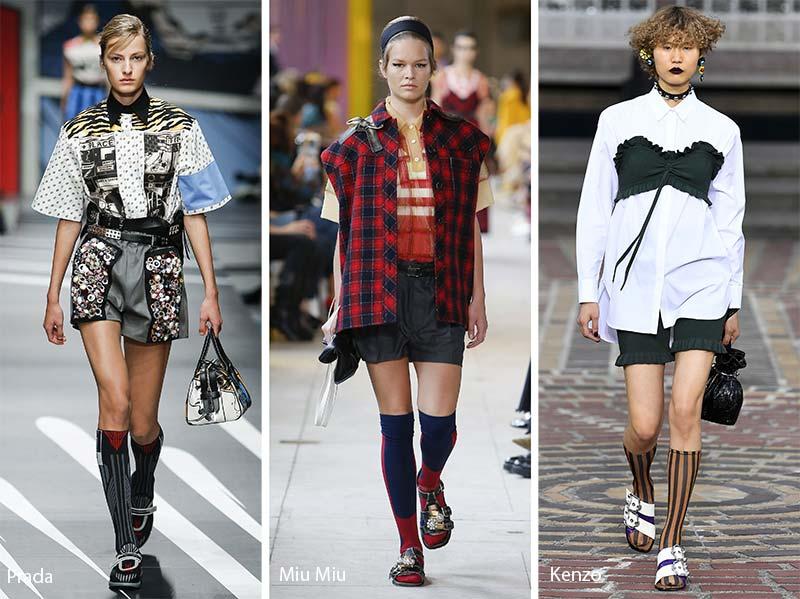 Calzini al ginocchio moda abbigliamento primavera estate 2018
