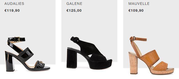 Catalogo sandali con tacco Geox estate 2018