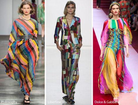 Colorate fantasie arcobaleno moda primavera estate 2018