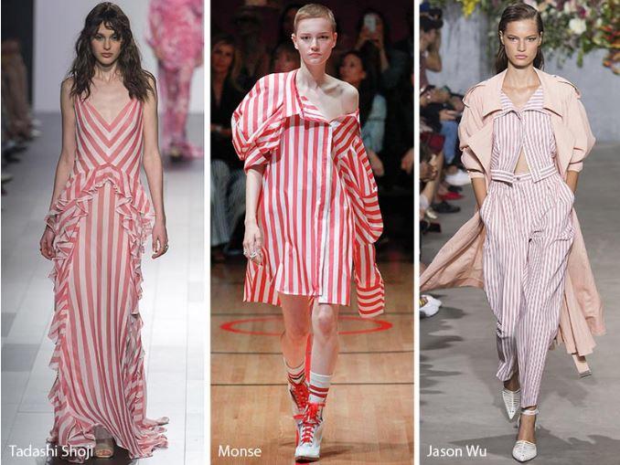 Colorate fantasie arcobaleno moda primavera estate 2018 Fantasia a righe tendenza moda abbigliamento primavera estate 2018 - Fantasia a righe tendenza moda abbigliamento primavera estate 2018