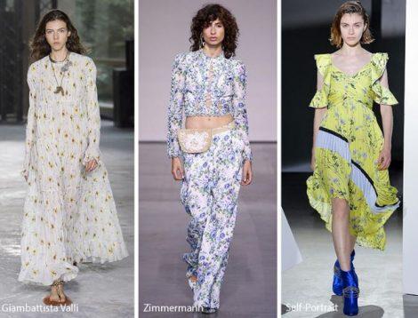 Fantasia floreale moda abbigliamento primavera estate 2018