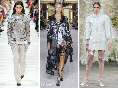 Moda futuristica con tessuti di plastica Moda futuristica con tessuti di plastica 470x352 - 25 Tendenze Moda Abbigliamento Donna Primavera Estate 2018