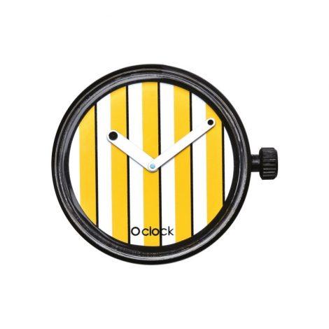 Nuovo meccanismo orologio di o bag O clock colors in nyc lines giallo cedro primavera estate 2018