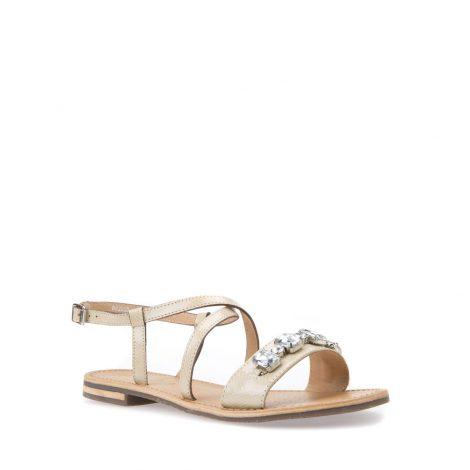 Sandalo basso Geox con dettaglio gioiello estate 2018 modello Sozy