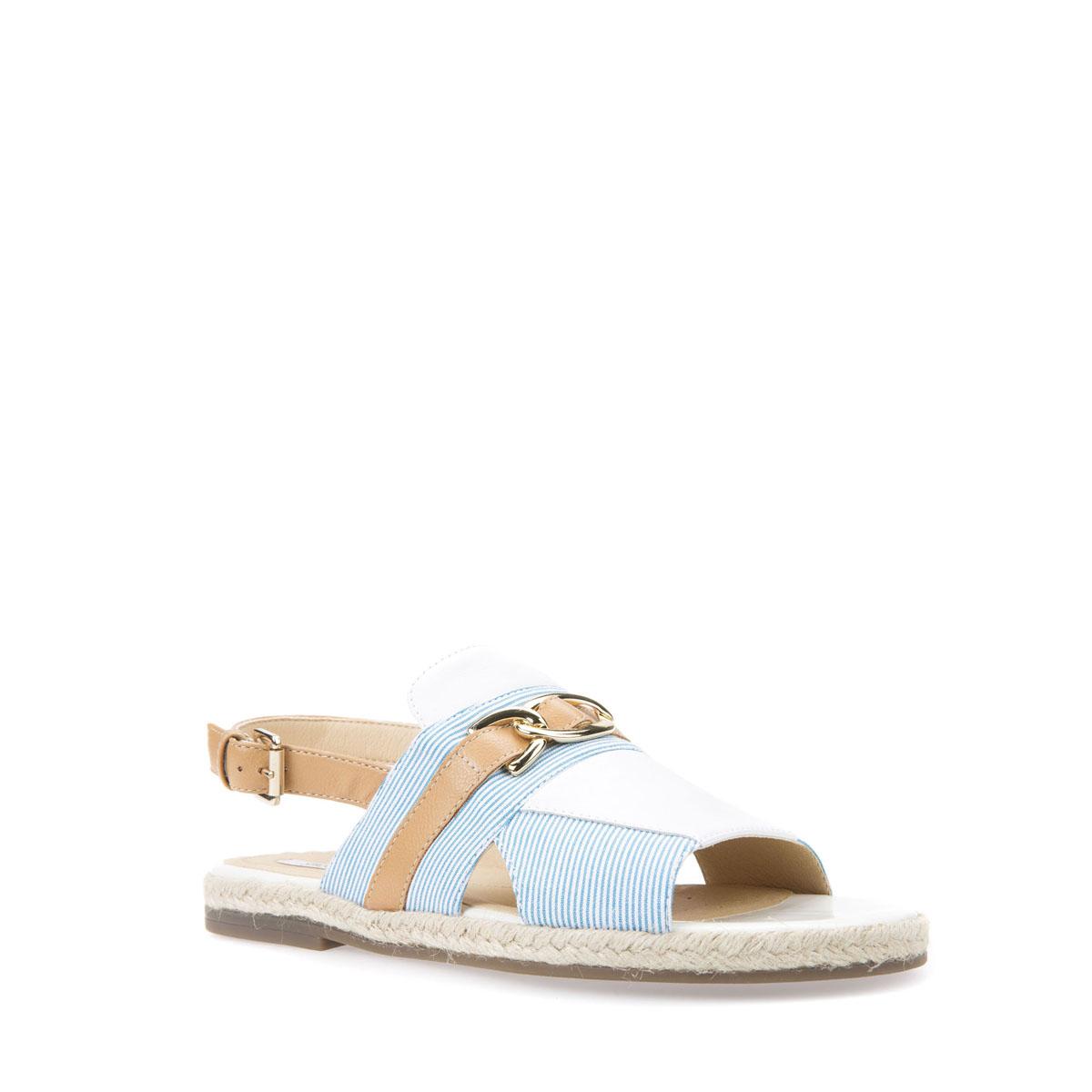 Catalogo sandali con tacco Geox estate 2018 Sandalo basso Geox estate 2018 modello Kolleen - Sandalo basso Geox estate 2018 modello Kolleen
