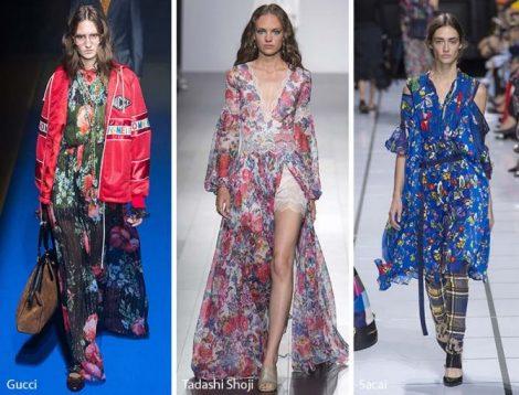Stampe floreali moda abbigliamento primavera estate 2018