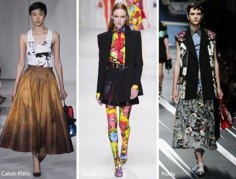 Stampe ispirate pop art moda abbigliamento primavera estate 2018