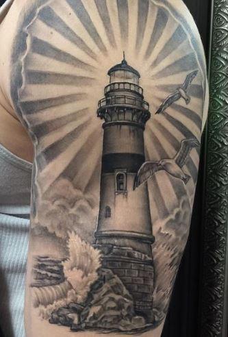 Tatuaggio Faro con luce