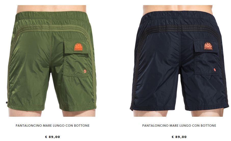 Pantaloncino lungo Sundek estate 2018 con bottone