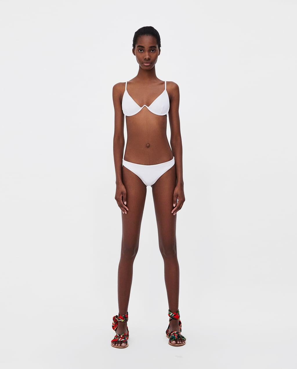 Bikini ZARA con reggiseno con ferretto estate 2018