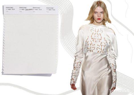 Colore Moda abbigliamento Tofu Pantone Inverno 2019