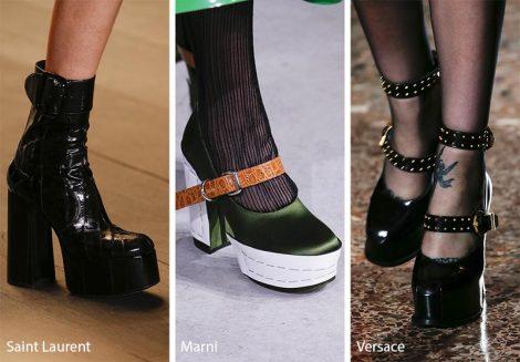 Scarpe con suole platforms tendenza moda inverno 2018 2019