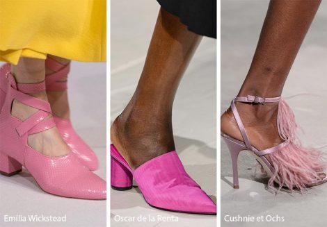 Scarpe e stivaletti rosa tendenza moda autunno inverno 2018 2019