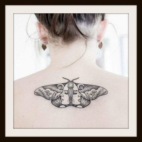Tatuaggio falena significato e foto the house of blog for Minimal significato