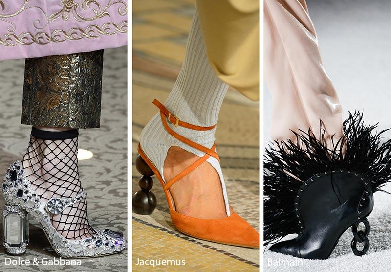 Tendenze moda scarpe inverno 2018 2019 con tacchi scultura