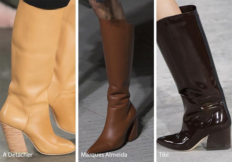 Tendenze moda scarpe inverno 2018 2019 tacchi angolati