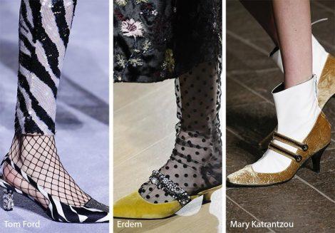Tendenze moda scarpe inverno 2018 2019 tacchi gattino