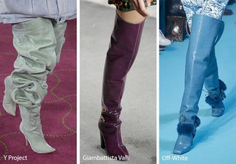 Tendenze stivali over the knee moda inverno 2018 2019