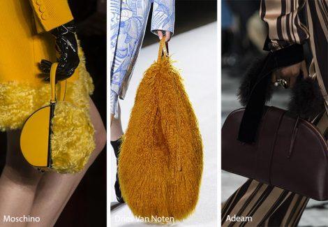 Borse con dettagli in pelliccia moda inverno 2018 2019