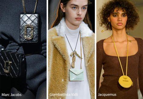 Borse piccole da portare al collo moda inverno 2018 2019