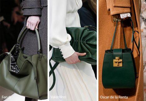 Borse verdi moda inverno 2018 2019