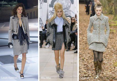 Capi abbigliamento in tweed moda inverno 2018 2019