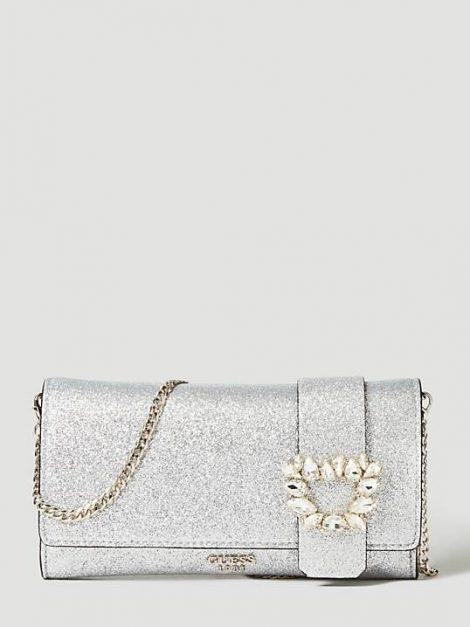 Elegante pochette silver Guess prezzo 85 euro