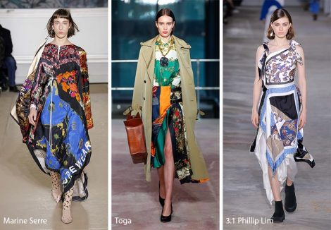 Fantasie foulard moda abbigliamento autunno inverno 2018 2019