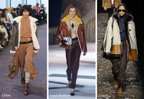 Giacconi in sheraling moda abbigliamento donna inverno 2018 2019