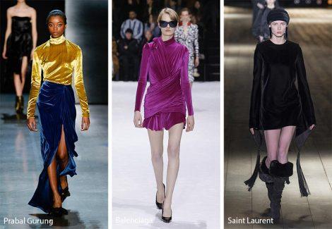Il velluto moda abbigliamento inverno 2018 2019