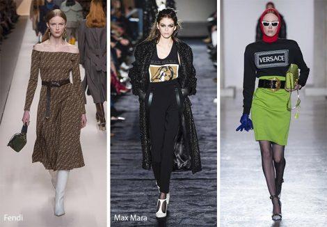 LOGO mania moda abbigliamento autunno inverno 2018 2019