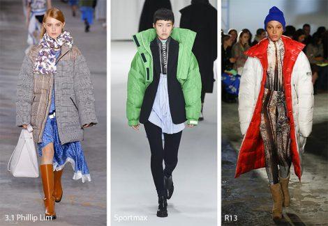 Piumini Oversize Moda abbigliamento inverno 2018 2019