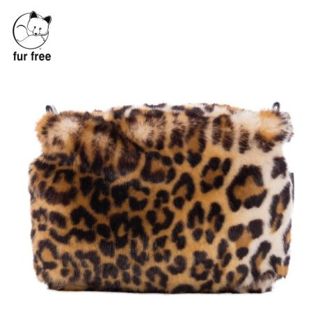 Sacca interna o bag glam in ecopelliccia leopardata 470x470 - Borse O BAG Glam e Knit: Novità inverno 2018 2019