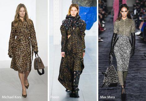 Stampe leopardate moda abbigliamento autunno inverno 2018 2019