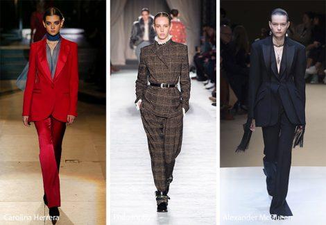 Tailleur giacca pantaloni moda donna inverno 2018 2019