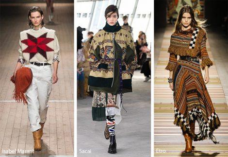 Tendenze Moda abbigliamento donna inverno 2018 2019 stile Folk