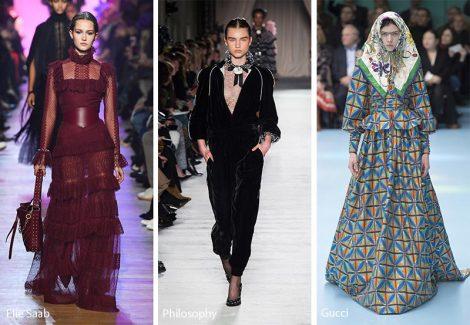 Tendenze Moda abbigliamento donna inverno 2018 2019 stile Vittoriano