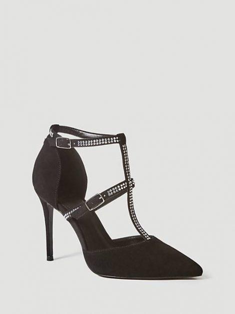 Eleganti scarpe a punta da sera con strass Guess inverno 2018 2019 prezzo 165 euro