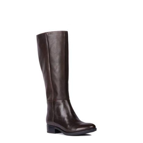 Stivali bassi da giorno in pelle marrone Geox mod Felicity prezzo 155 euro 470x470 - GEOX Stivali donna Inverno 2018 2019: Catalogo prezzi