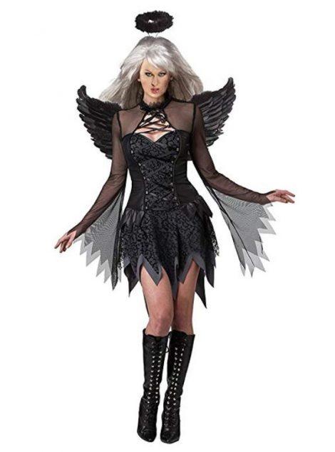 Costume Halloween da Angelo nero donna 470x635 - Costumi Halloween Economici Donna 2018
