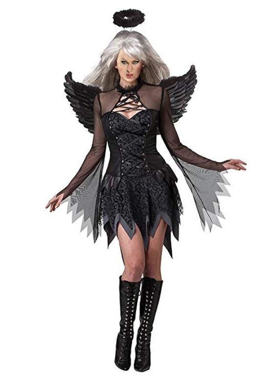 Costume Halloween da Angelo nero donna