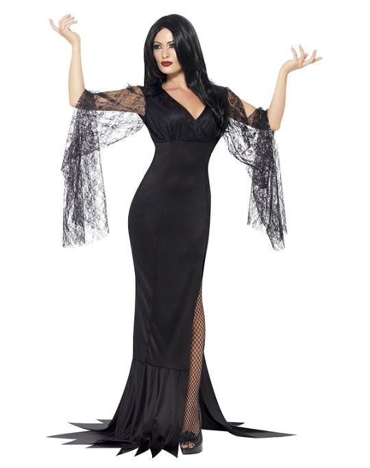 Costume Halloween donna da Morticia Addams