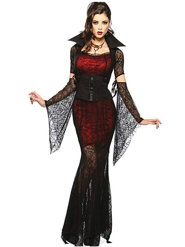 Costume Halloween economico da vampira