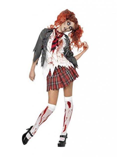 Costume Halloween ragazza scolaretta Zombie 470x631 - Costumi Halloween Economici Donna 2018