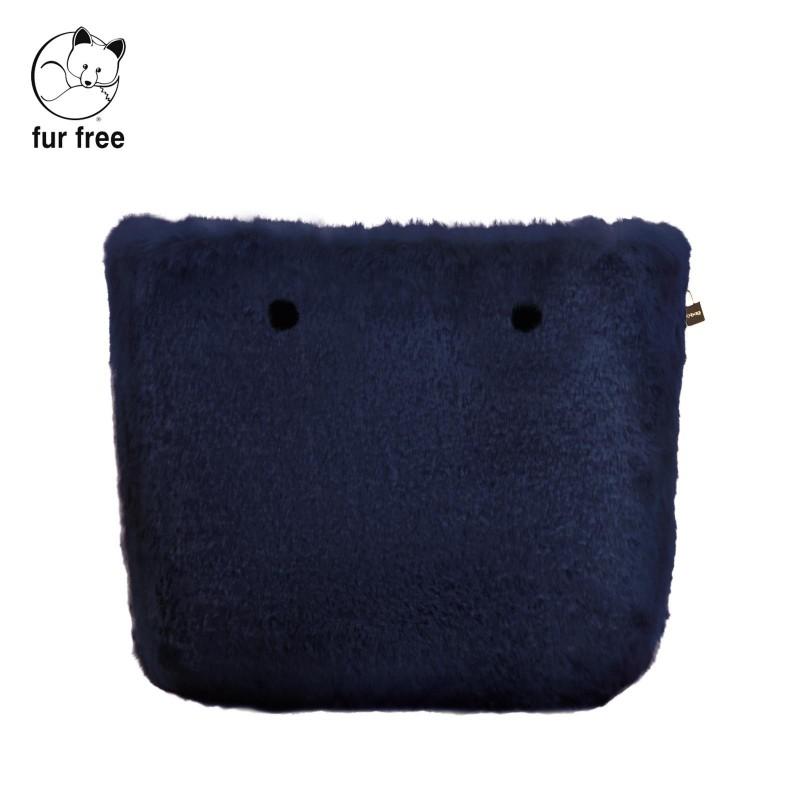 Cover borsa O Bag in ecopelliccia lapin blu navy inverno 2018 2019