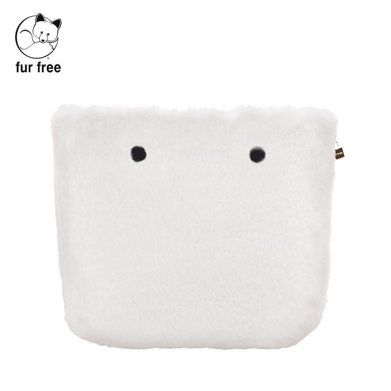 Cover borsa O Bag in ecopelliccia lapin latte