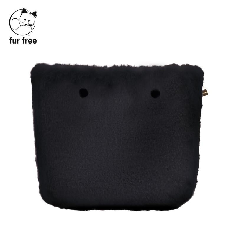 Cover borsa O Bag in ecopelliccia lapin nero