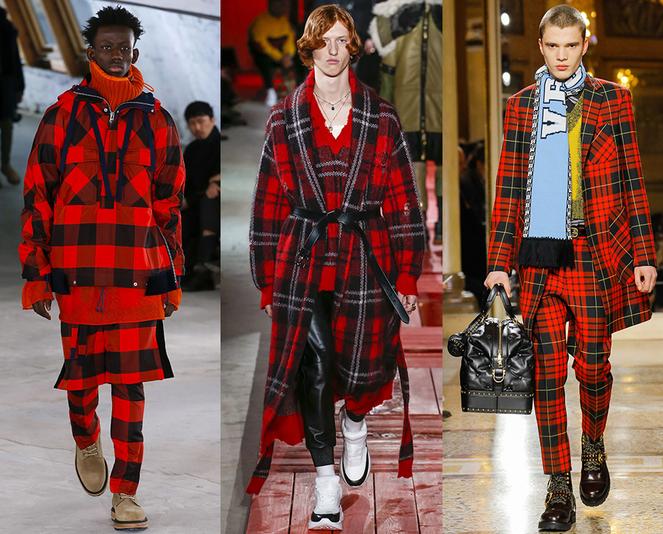 Fantasia a quadri moda abbigliamento uomo inverno 2018 2019